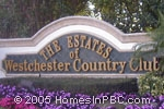 sign at entrance to Estates of Westchester CC / Pipers Glen            in Boynton Beach