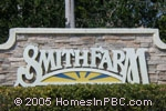 sign at entrance to Smith Farm                                         in Lake Worth
