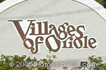 sign at entrance to Villages of Oriole                                 in Delray Beach