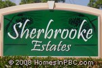 sign at entrance to Sherbrooke Estates                                 in Lake Worth