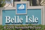sign in front of Belle Isle in Lake Worth