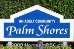 sign in front of Palm Shores in Boynton Beach