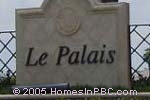 sign in front of Le Palais in Boynton Beach