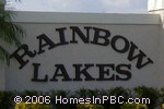 sign in front of Rainbow Lakes One in Boynton Beach