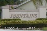 sign in front of Fountains in Boynton Beach