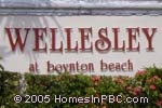 sign in front of Wellesley in Boynton Beach