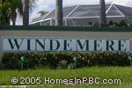 sign in front of Windemere in Boynton Beach