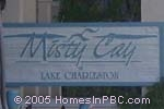 sign in front of Misty Cay in Lake Worth