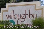 sign in front of Willoughby Farms in Lake Worth