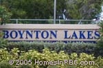 sign in front of Boynton Lakes in Boynton Beach