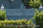 sign in front of Island Club in Lake Worth