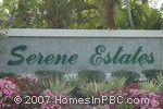 sign in front of Serene Estates in Lake Worth