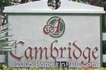 sign in front of Cambridge in Boynton Beach