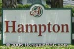 sign in front of Hampton in Boynton Beach