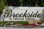 sign in front of Brookside in Boynton Beach
