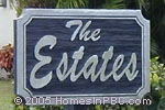 sign in front of The Estates in Boynton Beach