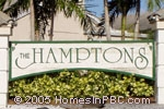 sign in front of The Hamptons in Boynton Beach
