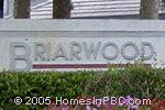sign in front of Briarwood in Boynton Beach