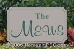 sign in front of The Mews in Boynton Beach