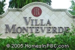 sign in front of Villa Monteverde in Delray Beach