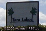sign in front of Tara Lakes in Boynton Beach