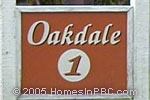 sign in front of Oakdale in Boynton Beach