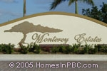 sign in front of Monterey Estates in Delray Beach
