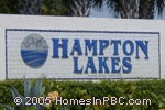 sign in front of Hampton Lakes in Boynton Beach