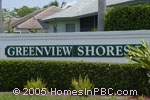 sign in front of Greenview Shores in Wellington