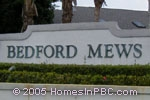 sign in front of Bedford Mews in Wellington