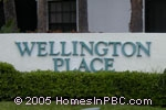 sign in front of Wellington Place in Wellington