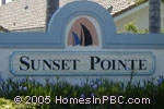 sign in front of Sunset Pointe in Wellington