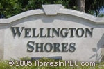 sign in front of Wellington Shores in Wellington