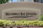 sign in front of Manderly Bay Estates in Wellington