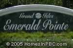 sign in front of Emerald Pointe in Wellington
