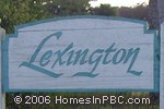 sign in front of Lexington of Sherbrooke in Lake Worth
