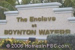 sign in front of The Enclave at Boynton Waters in Boynton Beach