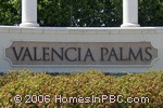 sign in front of Valencia Palms in Delray Beach