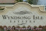 sign in front of Wyndsong Isle Estates in Boynton Beach
