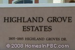 sign in front of Highland Grove Estates in Delray Beach