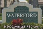 sign in front of Waterford in Boynton Beach