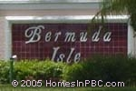 sign in front of Bermuda Isle in Boynton Beach