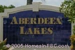 sign in front of Aberdeen Lakes in Boynton Beach