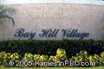 sign in front of Bay Hill Village in Lake Worth