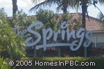 sign in front of Springs, The in Lake Worth