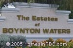 sign in front of The Estates of Boynton Waters in Boynton Beach