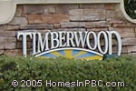 sign in front of Timberwood in Lake Worth