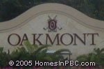 sign in front of Oakmont in Lake Worth