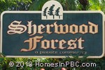 sign in front of Sherwood Forest in Delray Beach