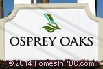 sign in front of Osprey Oaks in Lake Worth